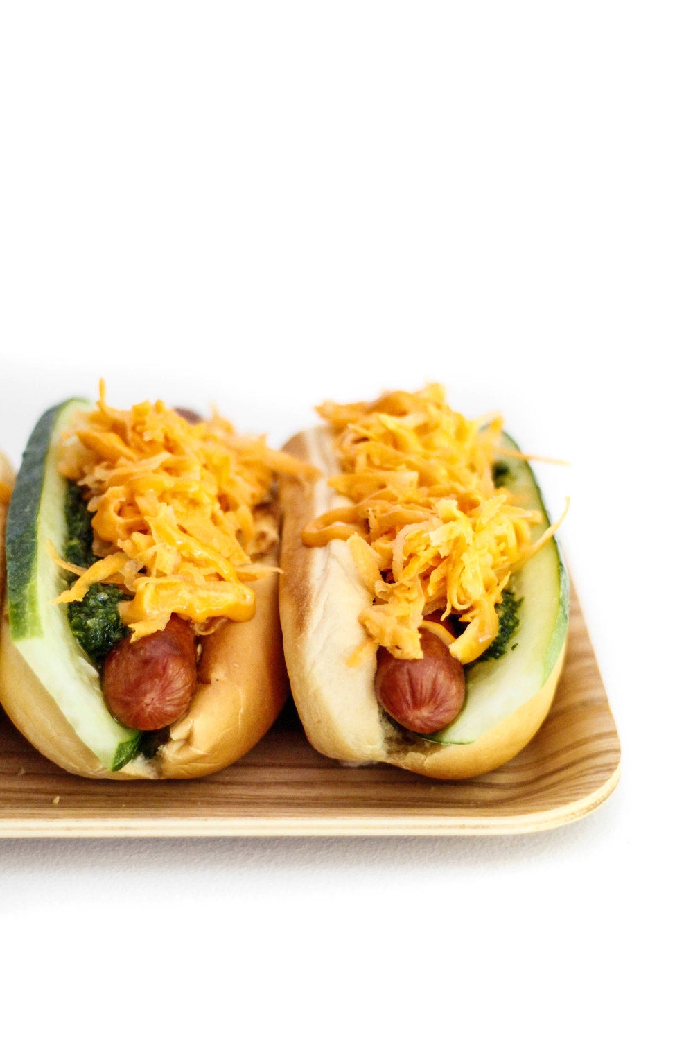 Banh mi-style hot dogs