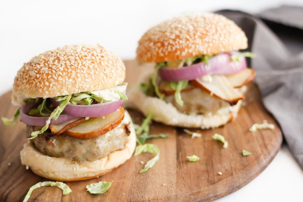 Roasted honey brie turkey burgers