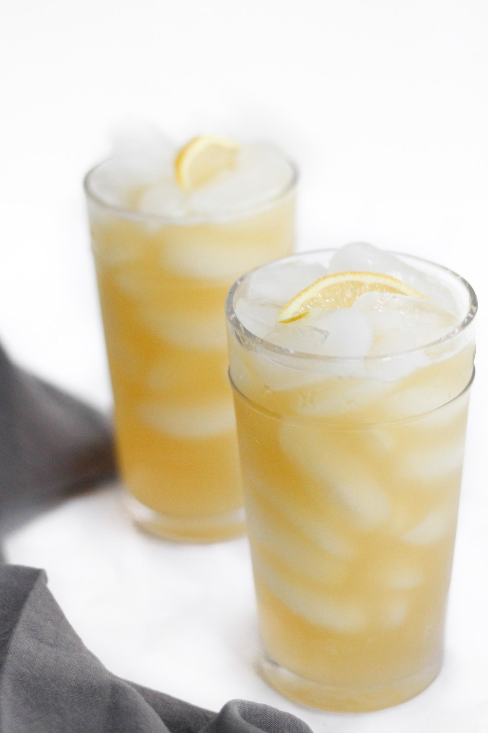 Whiskey pineapple cocktail