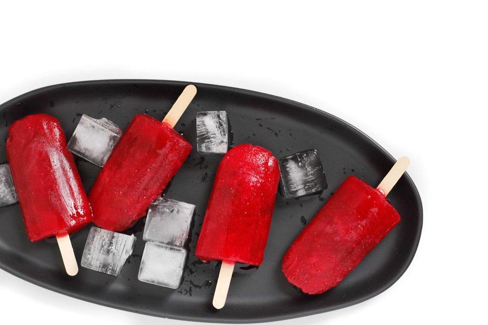 plum sorbet popsicles