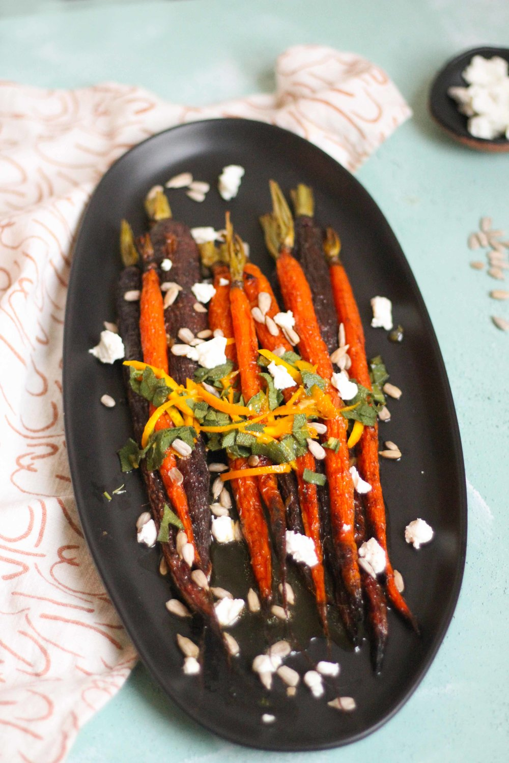Roasted carrots with sage vinaigrette