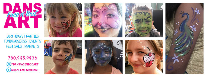Dan's Face 'n' Body Art - Fabulous face painting and body art services to enjoy during the festival! Find their work on Facebook and Instagram @dansfacenbodart.