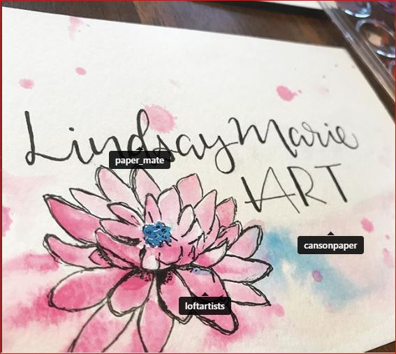 Lindsay Marie Nelson - Local calligraphy and watercolour artist, you can see what she is creating on Instagram @lindsaymarienelson.