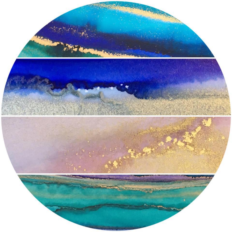 Sarah Ashley Studios - Sarah is a mixed media artist specializing in ink and resin work. She is on Facebook @sashley.w and Instagram @sarahashley_studios.