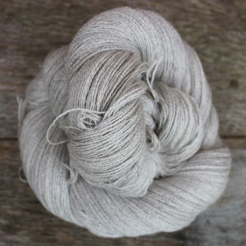 Type 49037: 70% Grey Baby Alpaca, 20% Silk, 10% Cashmere.