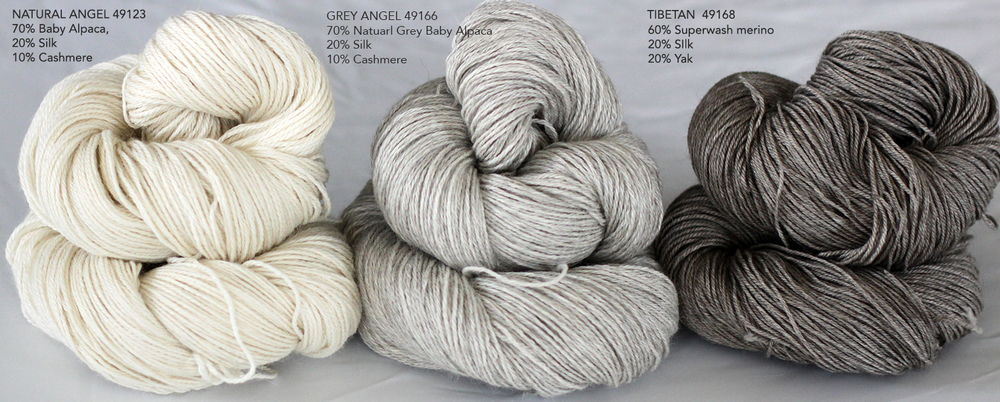Natural Angel 4ply and tibetan 4ply
