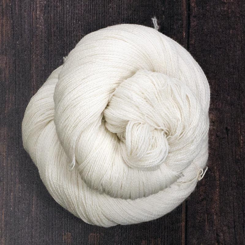 Type 49003 Lush lace 80% Extra fine merino  20% Silk 100g hanks 1200m per 100g