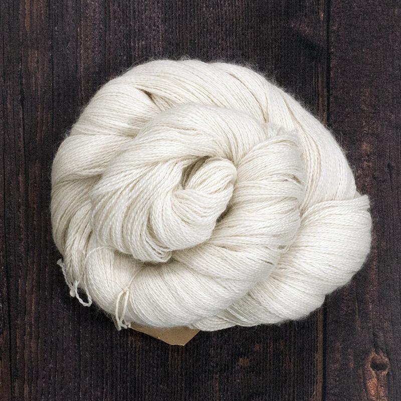 Type 49007  Angel Lite Lace  70% Baby Alpaca 20% Silk 10% Cashmere  100g hanks 800m per 100g