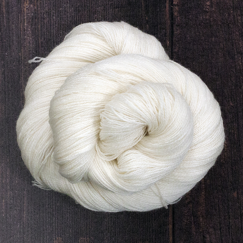 Type 49012  Merino Bamboo Lace  80% Superwash Merino  20% Bamboo  100g hanks 800m per 100g