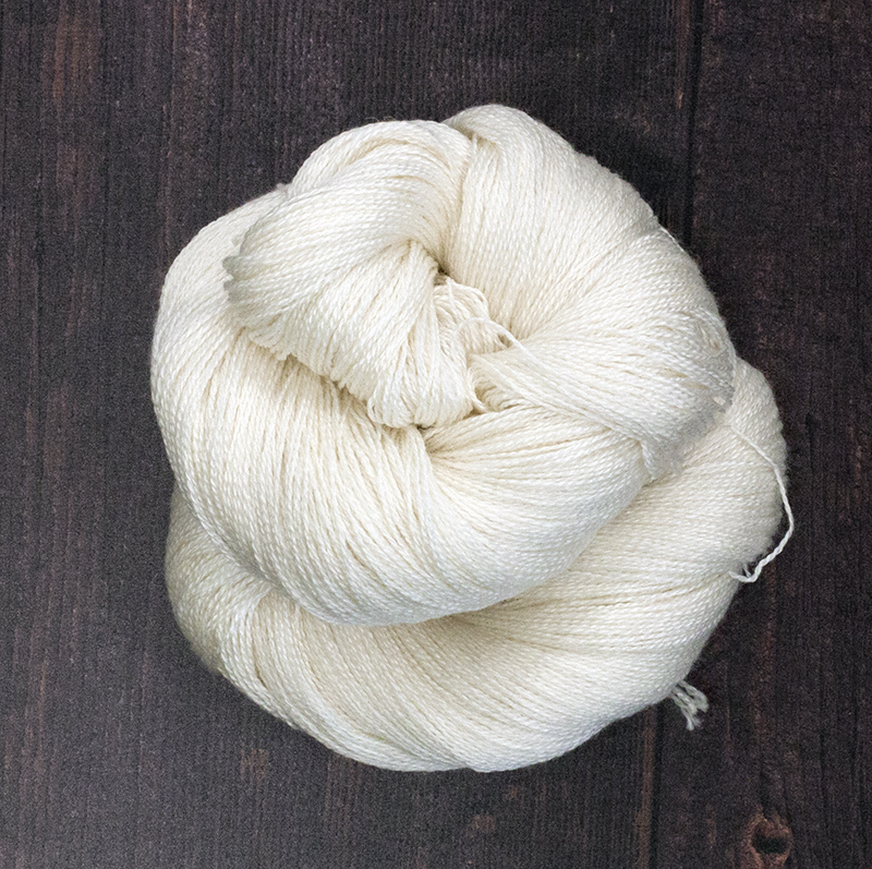 Type 49026  Decadence Lace 800    55% Superwash Bluefaced Leicester            45% Silk 100g Hanks             800m per 100g