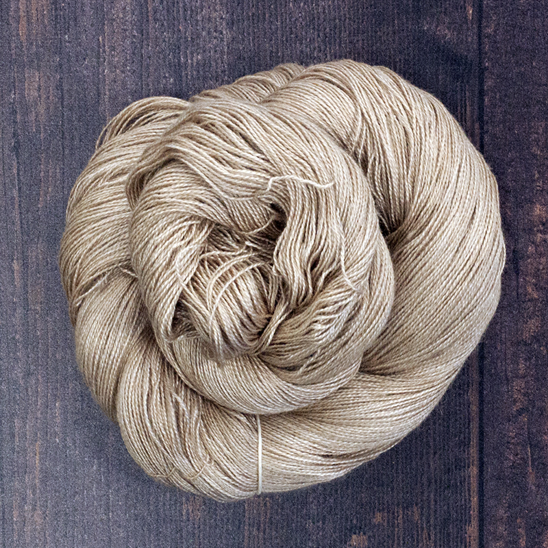 Type 49029 Camel Silk Lace 50% Mulberry Silk 50% Baby Camel 100g Hanks 800m per 100g