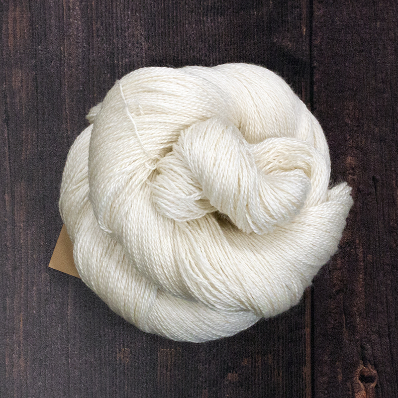 Type 49031  Decadence 600 Lace 55% Superwash Bluefaced Leicester    45% Silk 100g Hanks    600m per 100g