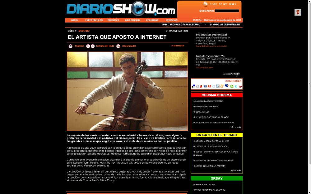 EL ARTISTA QUE APOSTO A INTERNET