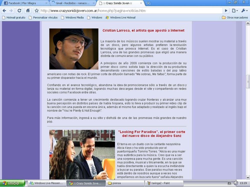 Cristian Larrosa : Con Aires de Cambio