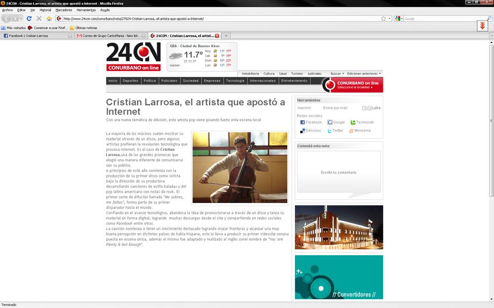 Cristian Larrosa, el artista que apostó a Internet
