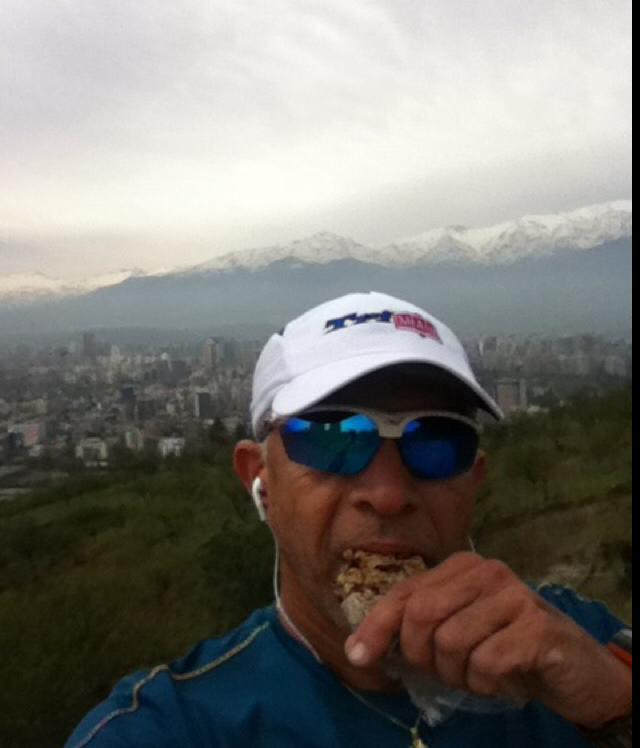 """""""Enjoying Clotho's Energy Granola Bars while running in the Andes in Chile..."""" - Alberto, Houston, TX"""