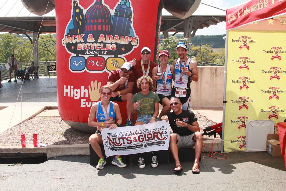 Members of Team TriMAC at the 2014 Kerrville Triathlon Festival in Kerrville, Texas.