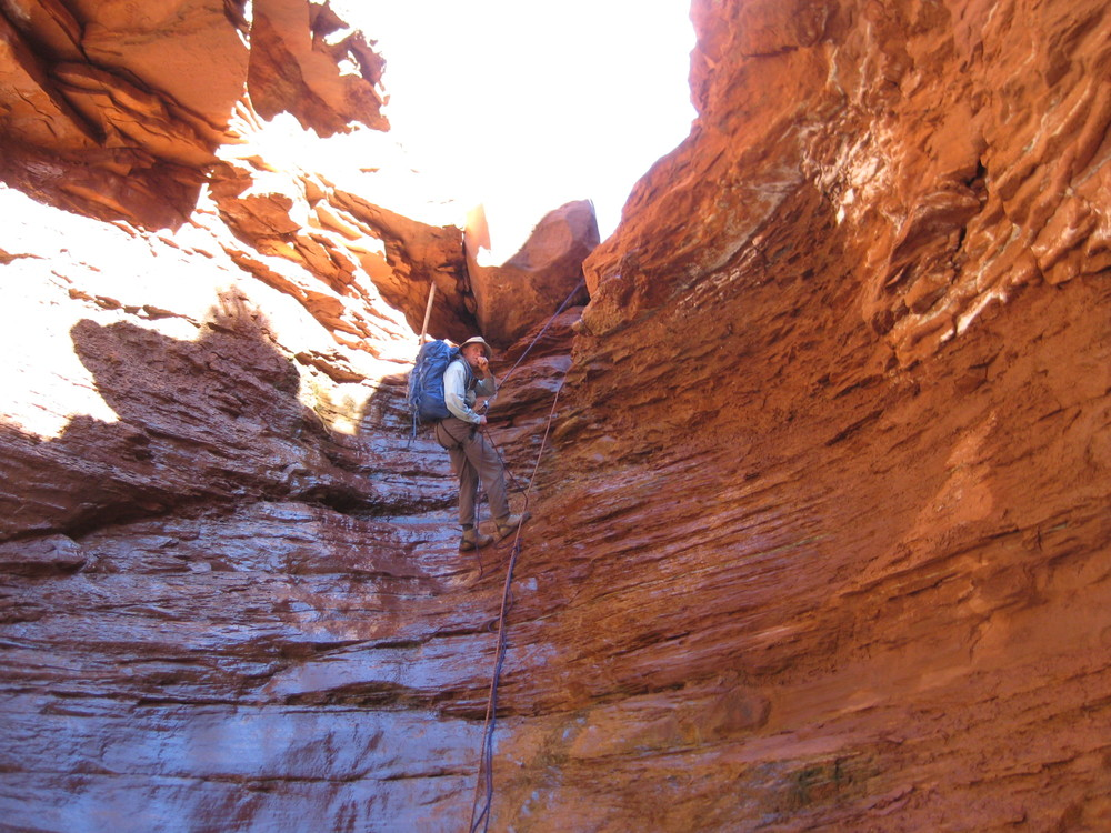 Can you eat a Nuts & Glory granola bar while rappelling?? Yes you can!