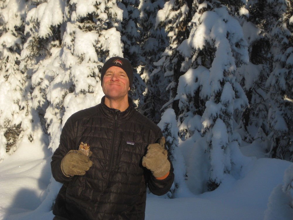 Nuts and Glory....keeping Kris fueled in a winter wonderland!