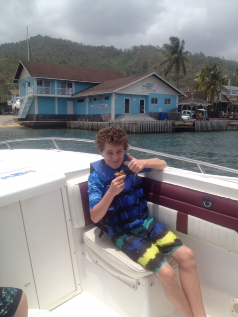 Thumbs up from Callum in Trinidad....Nuts and Glory makes it to the tropics!!