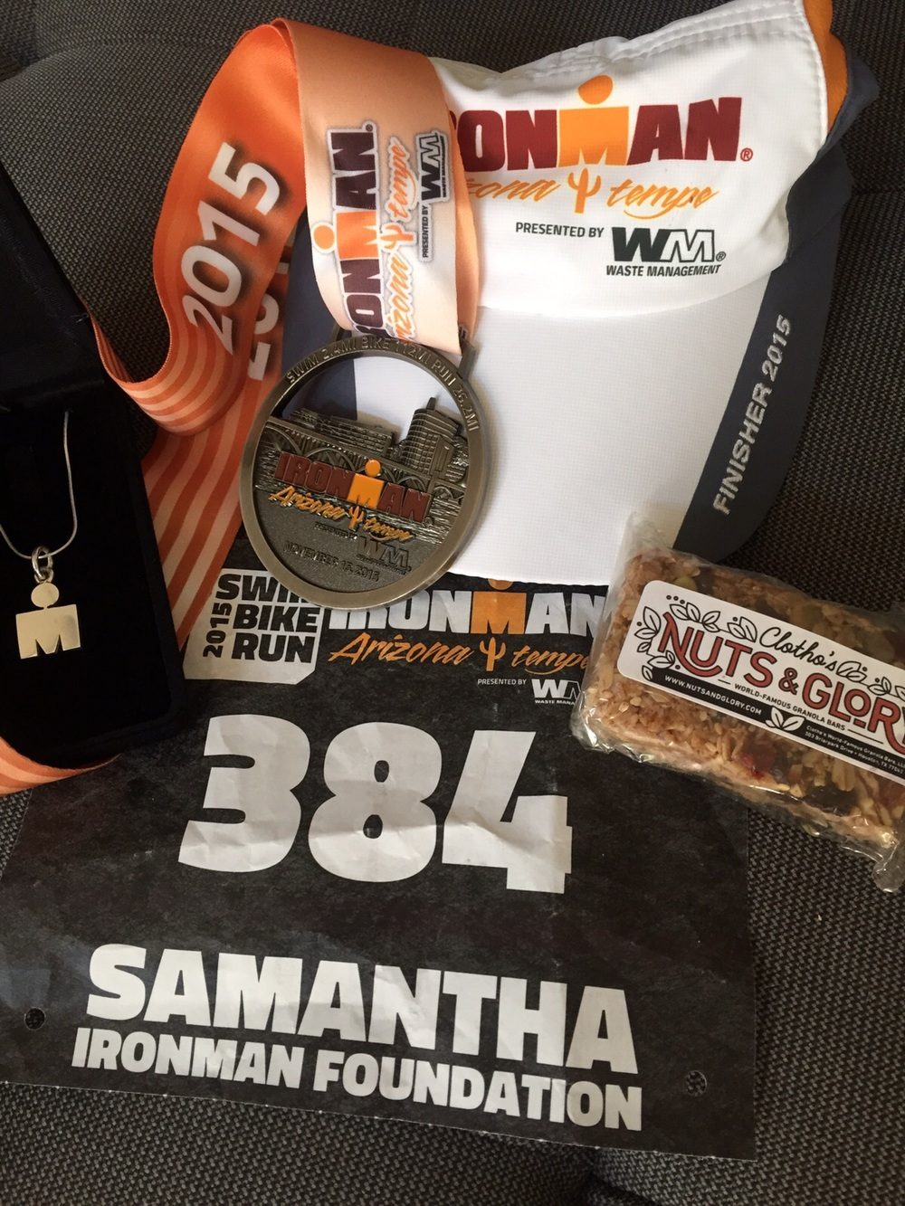 """""""An Ironman race wouldn't be possible without Nuts and Glory granola bars!""""-- writes Sam from Houston, TX."""