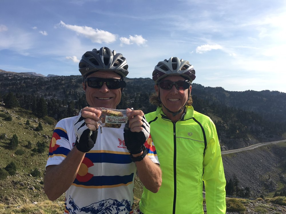 Dan and Patty sent this photo from Col de Pierre Saint Martin in the Spanish Pyrenees. Well done climbing that pass you two!