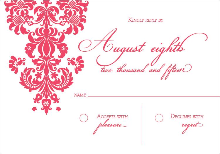 RSVP Card - Front