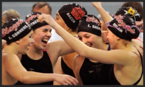 400 Freestyle Relay    Visitation – Emily Conners, Caroline Gaertner, Lorelei Gaertner, Abbie Dolan