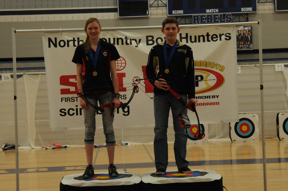 Girls Individual Champion - Allison Shorter - New Prague  /    Boys Individual Champion - Wes Joarnt - St. Croix Prep Academy    *Individual Champions are awarded with his and her choice of a lifetime fishing or hunting license.