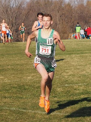 Class A Boys Champion Zack Emery (11) La Crescent
