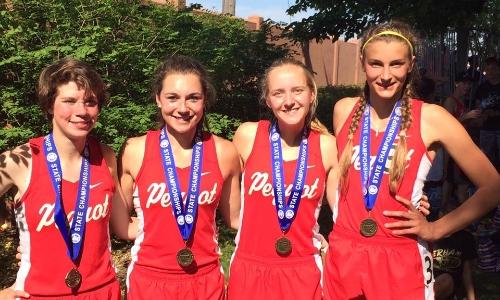 4X800 Meter Relay    Emily Berger (7th), Alissa Schultz (Jr), Haley Leger (So), Janessa Meuleners (Sr)    Pequot Lakes