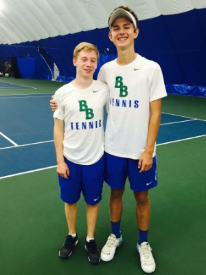 Boys Class A Doubles Champions Owen Rickert (Jr) & Joe Mairs (8th) The Blake School