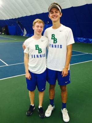 Boys Class A Doubles Champions    Owen Rickert (Jr) & Joe Mairs (8th)    The Blake School