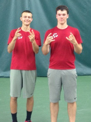 Boys Class AA Doubles Champions Anthony Rosa (Sr) & Carter Mason (Jr) Eden Prairie