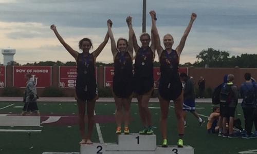 4X400 Meter Relay    Michelle Meyer (Jr), Elizabeth Axberg (Jr), Emily Brandt (Sr) and Julia Hayes (So)    Irondale