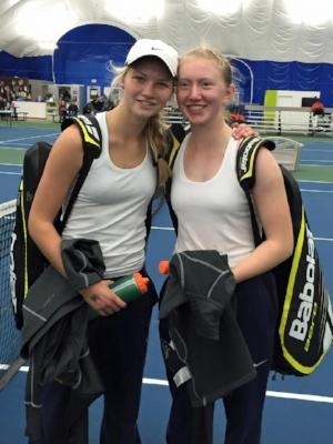 2015-16 Girls Class A Doubles Champions Grace Zumwinkle (11) & Lauren Kozikowski (11) Breck