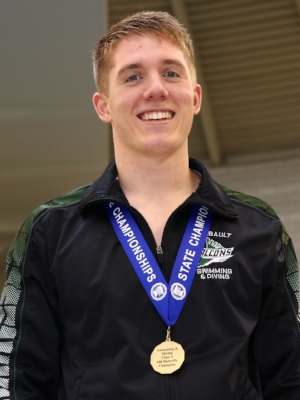 100 Butterfly Paul Sadergaski (12) Faribault Photo credit: MN Prep Photo