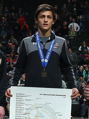 Class A 113 Champion Jeron Matson (10th) Kenyon-Wanamingo Photo credit: MN Prep Photo