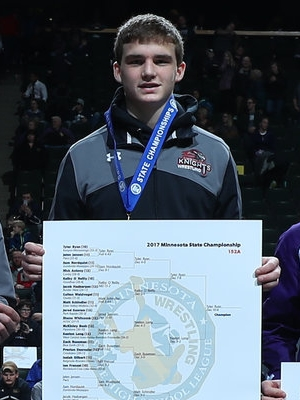 Class A 152 Champion Tyler Ryan (10th) Kenyon-Wanamingo Photo credit: MN Prep Photo
