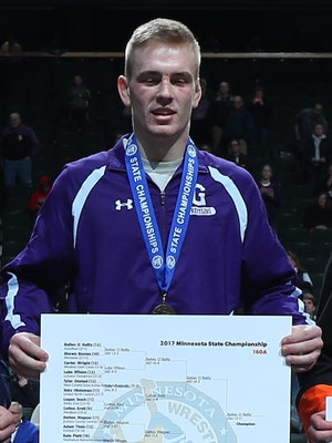 Class A 160 Champion Bailee O`Reilly (12th) Goodhue Photo credit: MN Prep Photo