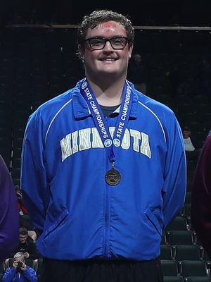 Class A 285 Champion Trent Esping (11th) Minneota Photo credit: MN Prep Photo