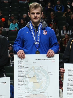 Class AA 126 Champion Jake Gliva (11th) Simley Photo credit: MN Prep Photo