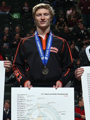 Class AA 132 Champion Tucker Sjomeling (12th) Delano Photo credit: MN Prep Photo