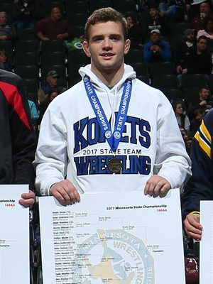 Class AA 160 Champion Brady Berge (12th)  Kasson-Mantorville Photo credit: MN Prep Photo