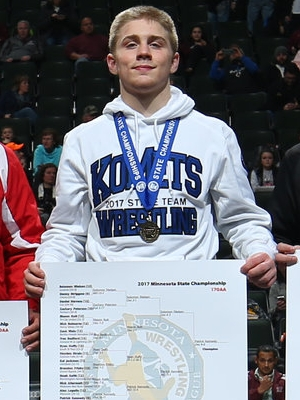 Class AA 170 Champion Patrick Kennedy (9th) Kasson-Mantorville Photo credit: MN Prep Photo