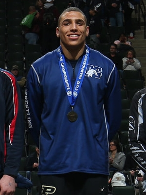Class AA 182 Champion Jared Florell (12th) Totino-Grace Photo credit:MN Prep Photo