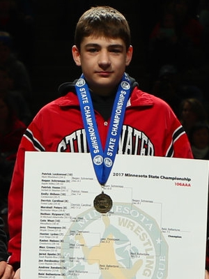 Class AAA 106 Champion Reid Ballantyne (8th)  Stillwater Photo credit: MN Prep Photo