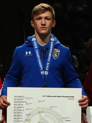 Class AAA 120 Champion Patrick Mckee  (11th) St. Michael-Albertville Photo credit: MN Prep Photo