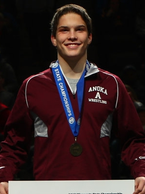 Class AAA 138 Champion Tyler Eischens (11th)  Anoka Photo credit: MN Prep Photo