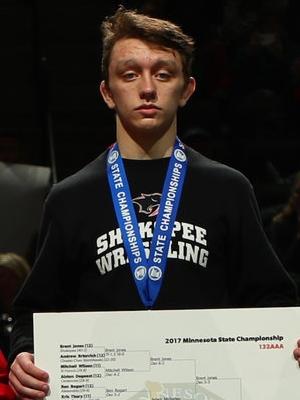 Class AAA 132 Champion Brent Jones (12th) Shakopee Photo credit:MN Prep Photo
